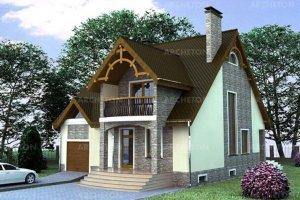 Проект коттеджа Белогорща