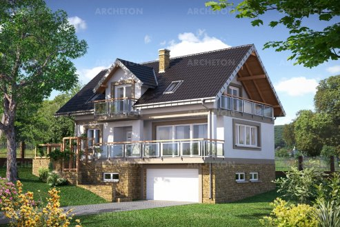 Проект дома Открытка Сток